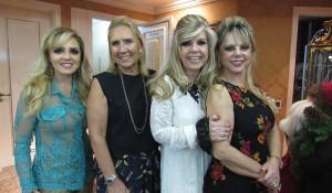 Gisele Macedo, Helena Pereira, Denise Leal e anfitriã.