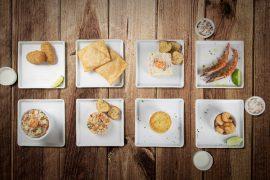 Os restaurantes do Grupo Victor servem uma sequência de oito pratos durante o Festival dos Camarões.