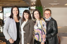 Ana Claudia Marini, Daniela Nogueira, Camila Marinez e Jô Goslar.