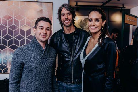 Juan Moraes, André Diniz e Catherine Braska.