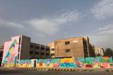 Os Cosmic Boys deram uma nova cara ao maior muro da Síria com a ajuda de crianças   Foto: Rimon Guimarães.