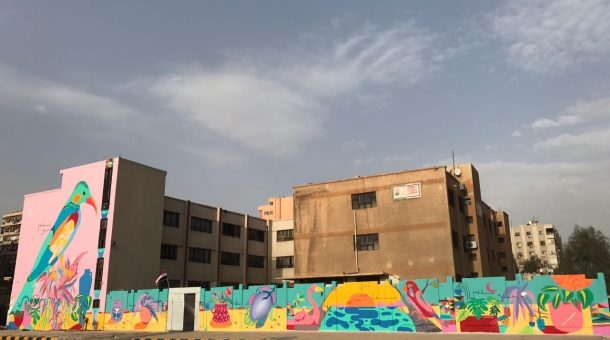 Os Cosmic Boys deram uma nova cara ao maior muro da Síria com a ajuda de crianças | Foto: Rimon Guimarães.