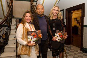 O artista plástico e chef Washington Silvera e as vice-presidentes do Instituto TMO Karla Petrelli (esq.) e Cristiane Mocellin.