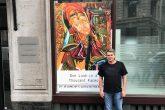 Após cinco anos recluso, Sergio Francisco Rolim volta em expor seus quadros.