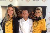 A gerente da Kinta Home Decor, Karine Lima, o chef Ivan Lopes e a gerente de marketing da Kinta Home Decor, Karina Lemes.