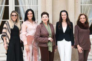 Chris Bley, Ilse Lambach, Vera Lupion, Danielle Lupion e Eliana Fadel Farracha de Castro.