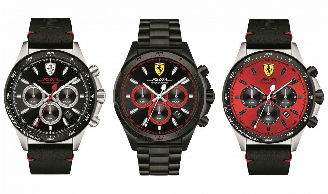5acd309b109 Os três novos modelos de relógios Scuderia Ferrari foram inspirados nos  carros de corrida.