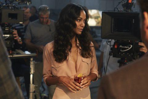 Zoe Saldana nos bastidores de Red Diaries Campari.