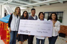 Shopping Mueller faz doação para Escola Especial Nilza Tartuce