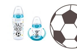 Pequenos Torcedores NUK lança copo, mamadeira e chupeta da Copa