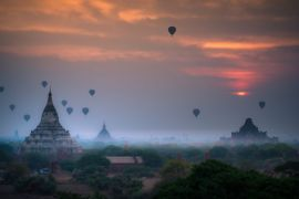 Quer casar comigo 5 lugares no mundo para pedir em casamento Booking - Balões sobre Bagan, Mianmar