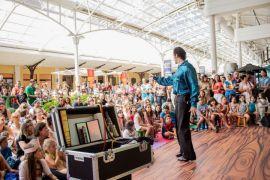 Show de mágica no Shopping Estação