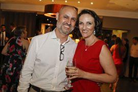 Becker Direito Empresarial 20 anos Sergio Cordeiro, CFO do Grupo Madero com a sócia Marilia Pioli