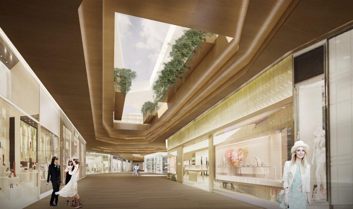 a917049e93a0 O ambiente interno do Jockey Plaza Shopping conta com muita iluminação  natural e área verde.