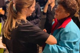 Luciana Almeida em mais uma atividade com pessoas em situação de rua